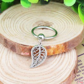 Captive bead ring leaf