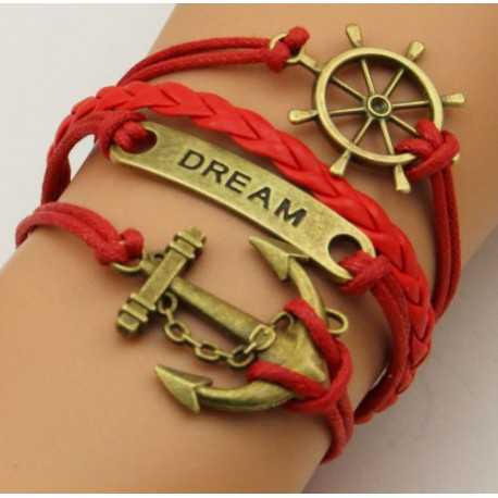 Infinity armband rood dream