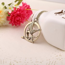 Ketting hunger games mockingbird bronze plated