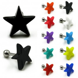 Tragus helix stud ster